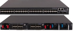 [48 × 1/10G SFP+ ports, 2 × QSFP+ ports (40GE, can be split into four 10GE ports.), 2 × expansion slots, 2 × fan tray slots, and 2 × power module slots] G-SW-M48+2Q